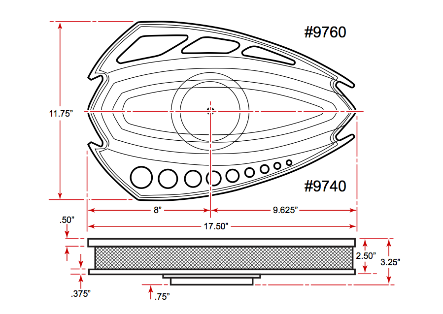 Style Track Grande Air Cleaner Dimensions