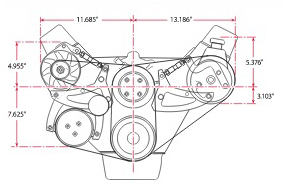 Ford FE Mid-Mount Diagram