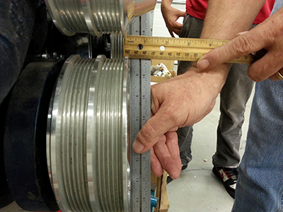 Checking Pulley Alignment