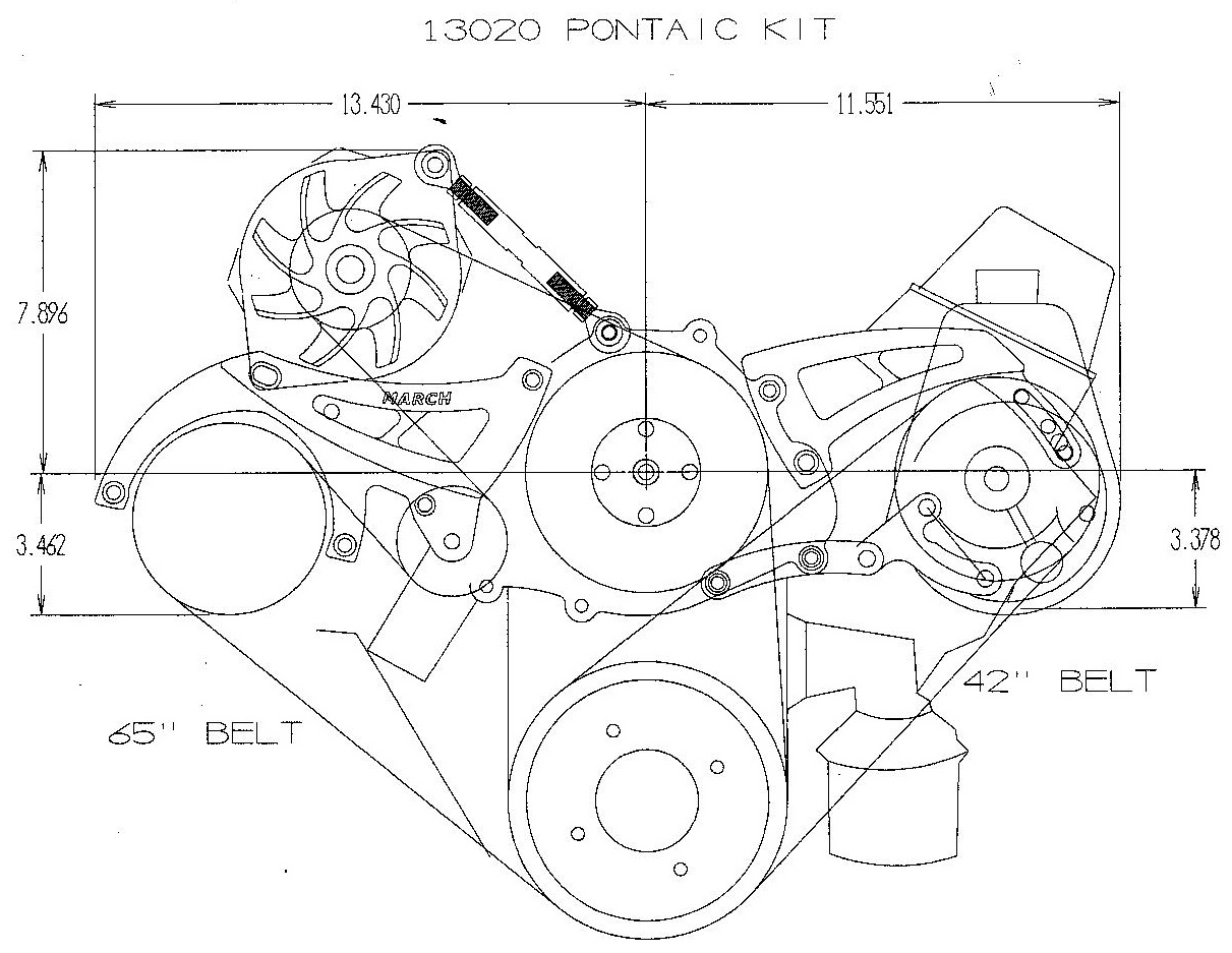 March Performance Pontiac 326 455ci Ultra Mid Mount 472 Cadillac Engine Diagram Related Products