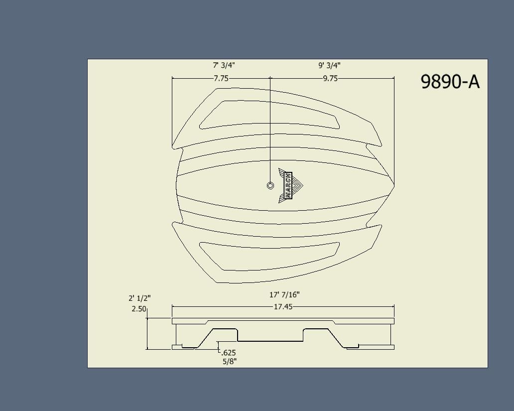 Futura Drop Base Dimensions