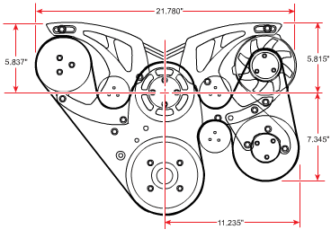 Ford 351 Cleveland, 351M, 400M Diagram
