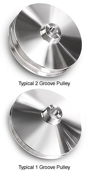 CHROME POWER STEERING PULLEY SINGLE GROOVE V-BELT KEY WAY FITS CHEVY GM
